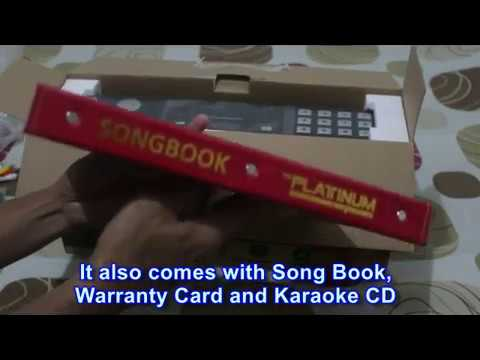 Platinum Karaoke Player Unboxing From LAZADA