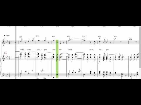 Beethoven 9th symphony, Allegro assai , vivace alla Marcia Tenor 1