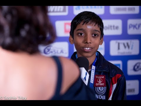 Round 3 Gibraltar Chess post-game interview with Praggnanandhaa