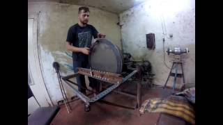 GUBAREV Drum. Production of shels by rotary metal spinning