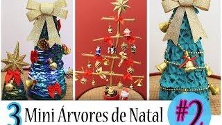 DIY: 3 Mini Árvores de Natal fáceis e baratinhas