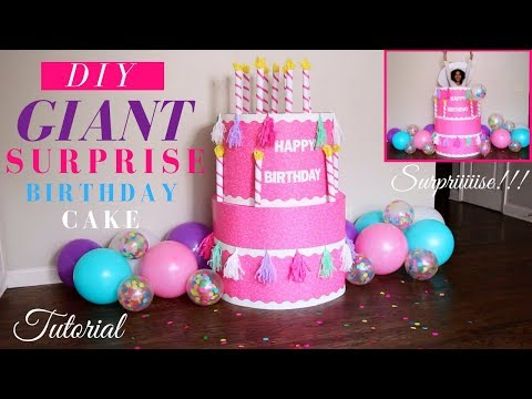 Giant Surprise Birthday Cake Tutorial | DIY Surprise Birthday Party Ideas