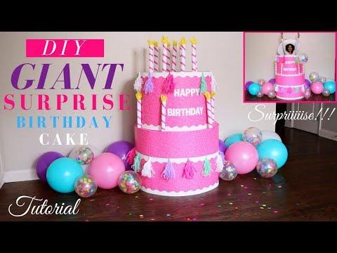 Surprise Birthday Party Ideas   DIY Party Ideas   DIY Giant Surprise Birthday Cake  