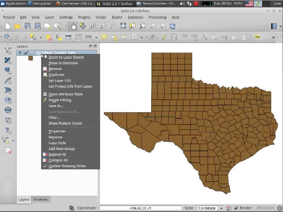 Creating WMS with GeoServer on OSGeo Live Virtual Machine
