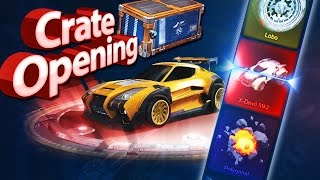 TROLLED BY ROCKET LEAGUE!!! - Rocket League CRATE OPENING 1 - (CC1 & CC2)
