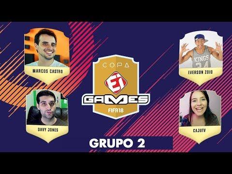 DAVY JONES X CAJUTV E MARCOS CASTRO X EVERSON ZOIO  - ESTREIA DO GRUPO 2 DA COPA EI GAMES