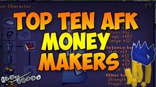 OSRS Top Ten AFK Money Makers