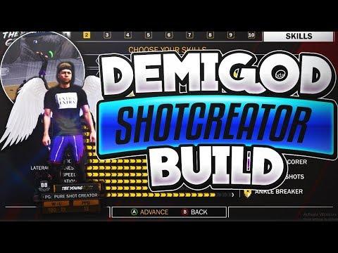 NBA 2K18: OVERPOWERED SHOT CREATOR DEMIGOD BUILD!