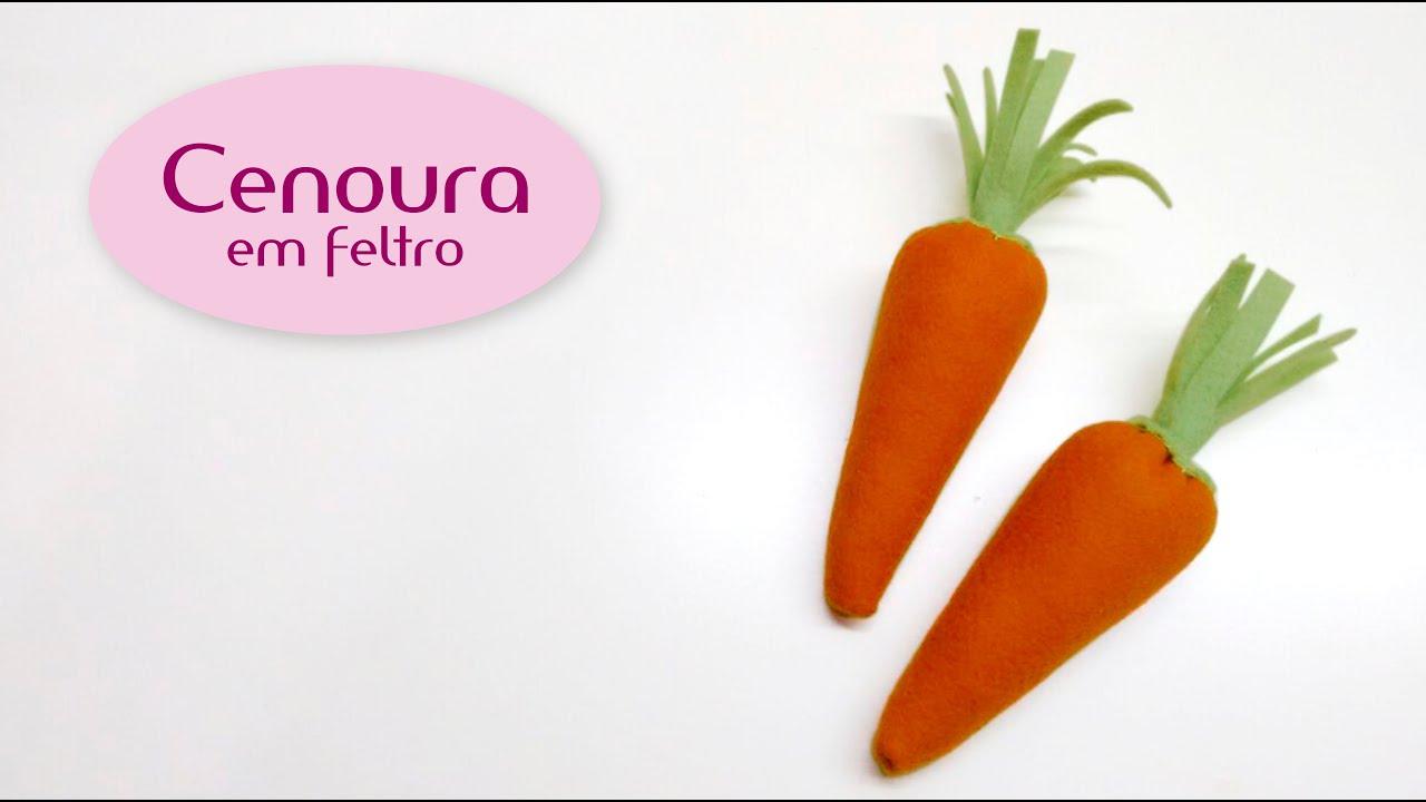 Cenoura Em Feltro Pic Nic Youtube