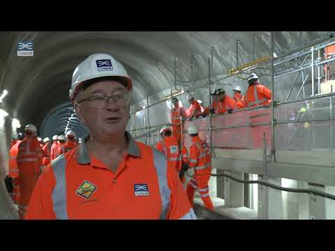 Crossrail Chairman Sir Terry Morgan highlights completion of Elizabeth line track