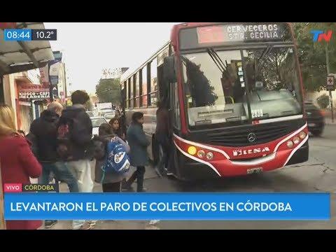 Se levantó el paro de transportes en Córdoba después de 10 días