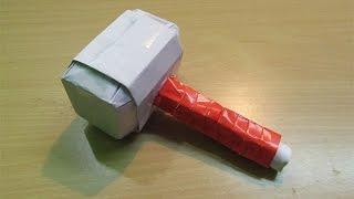 How to Make a Paper Thor Hammer (Marvel Avenger)-  Easy Tutorials