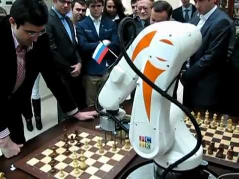 Chess Robot vs World Chess Champion-14 Vladimir Kramnik