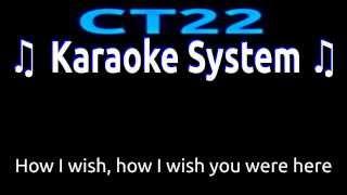 Pink Floyd - Wish You Were Here FEMALE KEY [Karaoke/Guitar Instrumental] Lyrics on Screen HD REQUEST