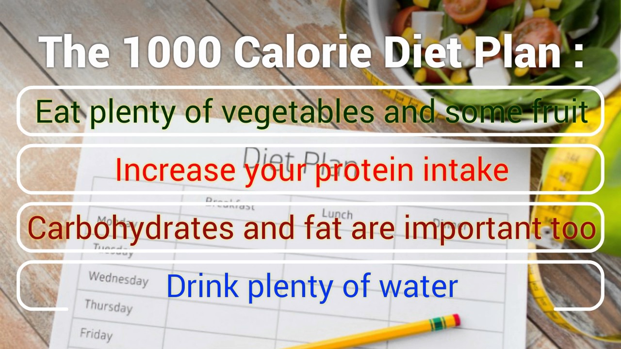 1000 Calorie Diet Youtube