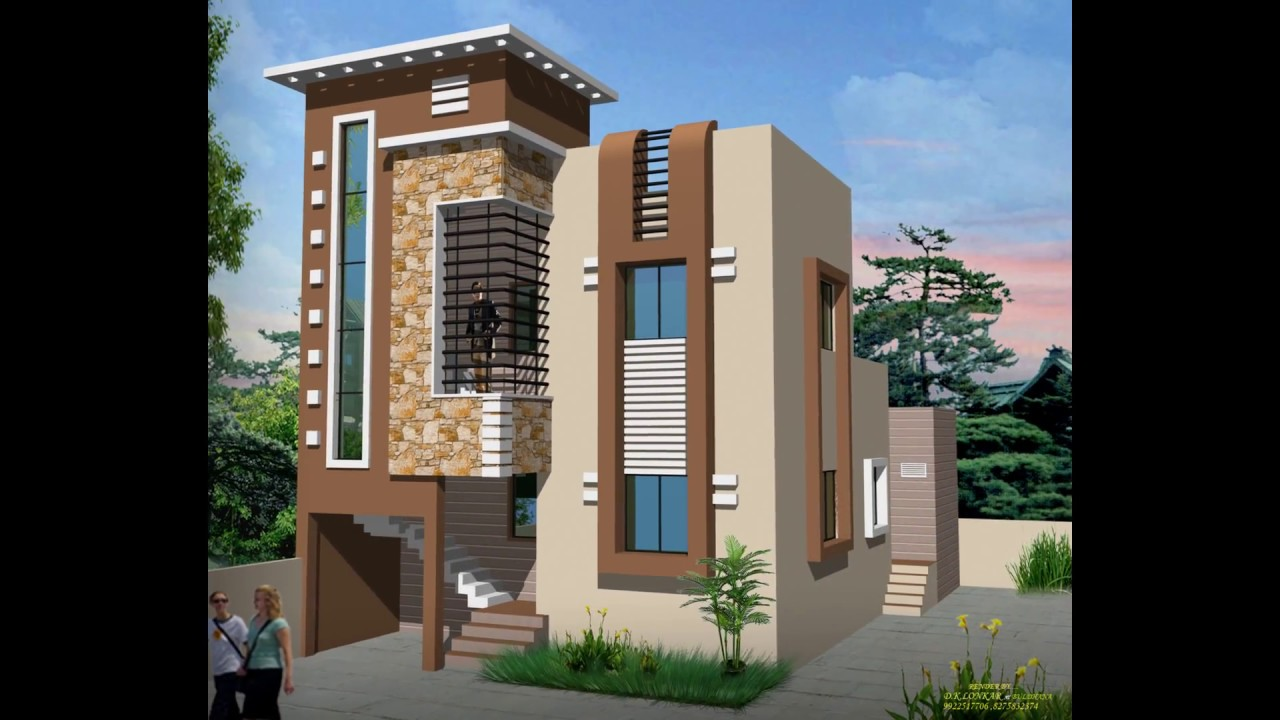 Home elevations indian home designs homes for Small house elevation in india
