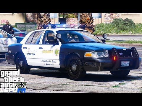 GTA 5 LSPDFR Police Mod 457 Los Angeles County Sheriff LoJack Unit Leads To Arrest | Compton Patrol