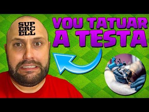 VOU TATUAR A TESTA COM O NOME DA SUPERCELL?! - BRUNO CLASH