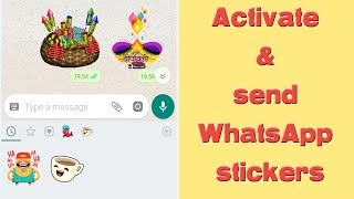 WhatsApp sticker activation tutorial
