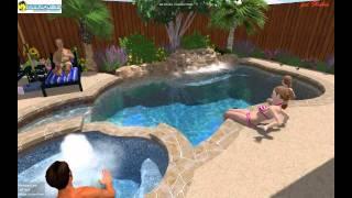 Mirage Custom Pools Shaddock Homes Pearson Farms Frisco Texas Kentshire