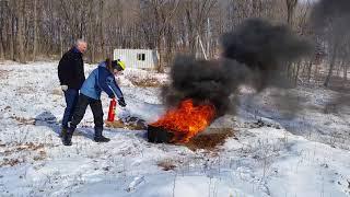 видео Огнетушитель углекислотный ОУ-2(з) ИНЕЙ