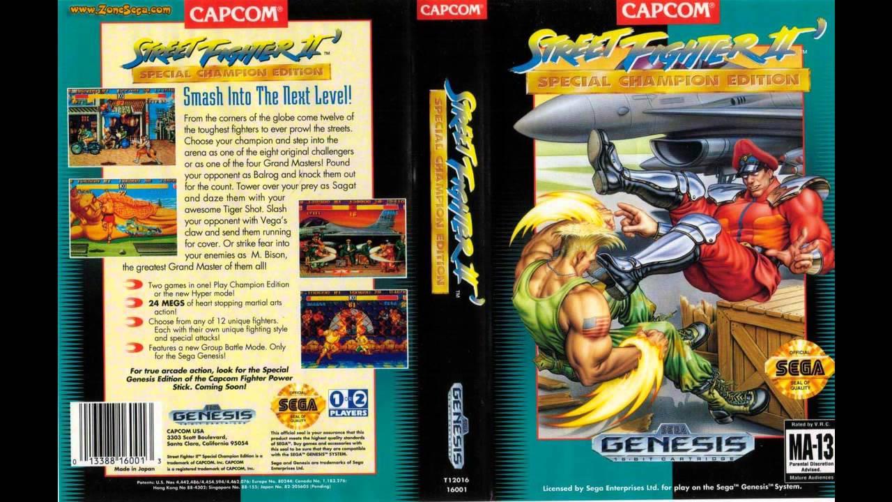 Sega Genesis Music Street Fighter Ii Sce Full Original