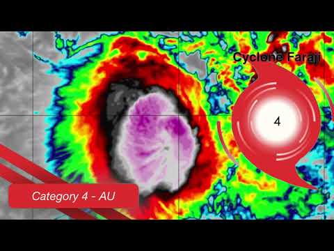 Cyclone Faraji Still a Powerful Cyclone, Heading for Mauritius - Update 4
