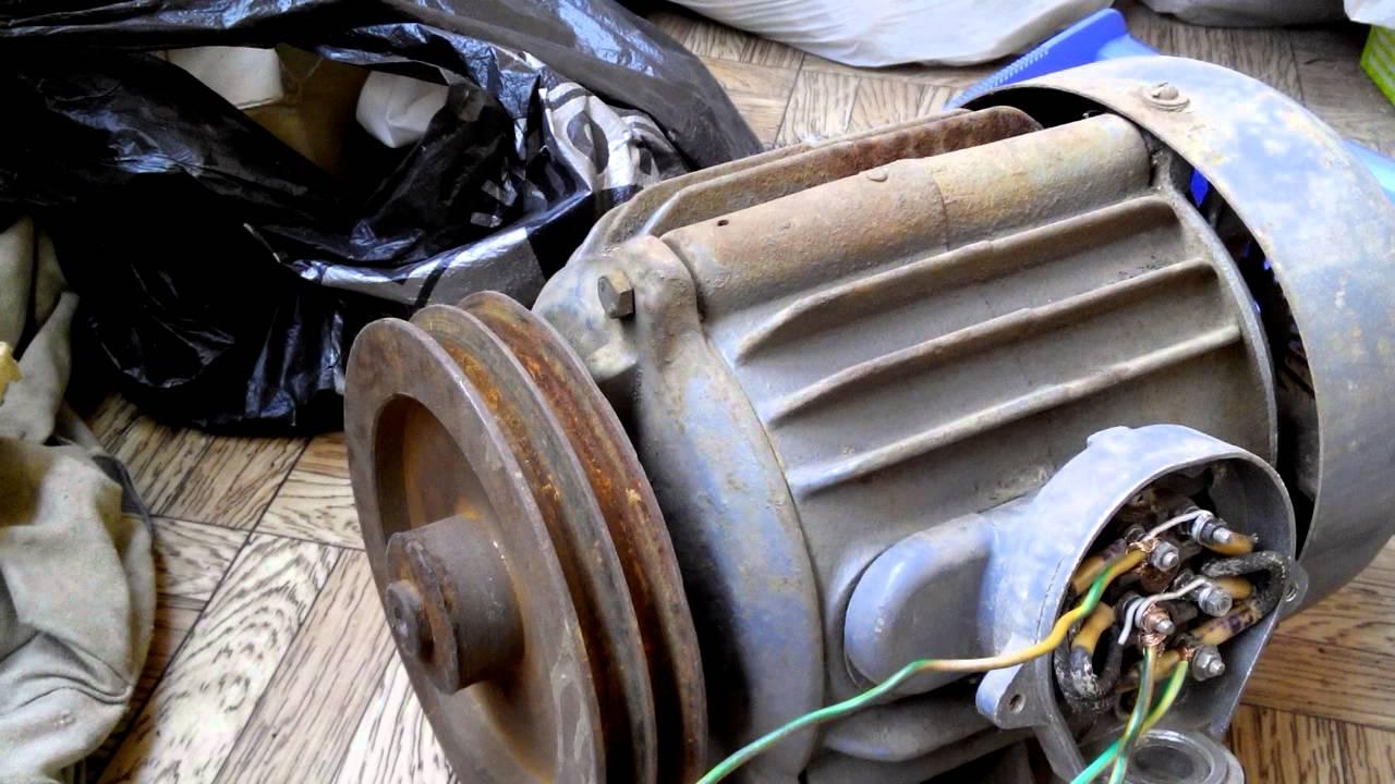 Подключение 3-фазного двигателя в сеть 220В через пусковой и рабочий конденсаторы