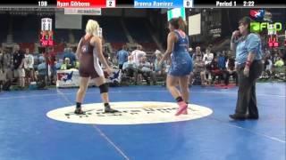 Junior WM 198 - Ryan Gibbons (Washington) vs. Brenna Ramirez (Michigan)