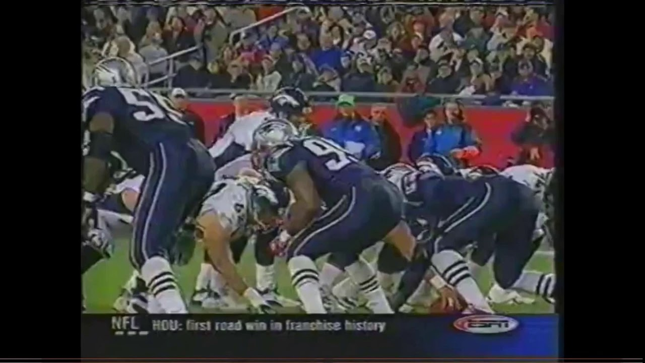 Denver Broncos Vs New England Patriots Nfl Primetime 2002 Week 8 Youtube