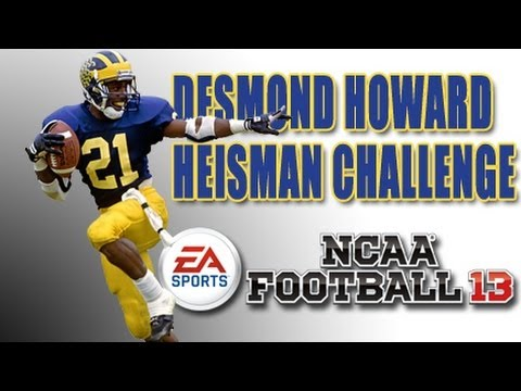 Heisman Challenge - Desmond Howard - Game 1 vs Alabama