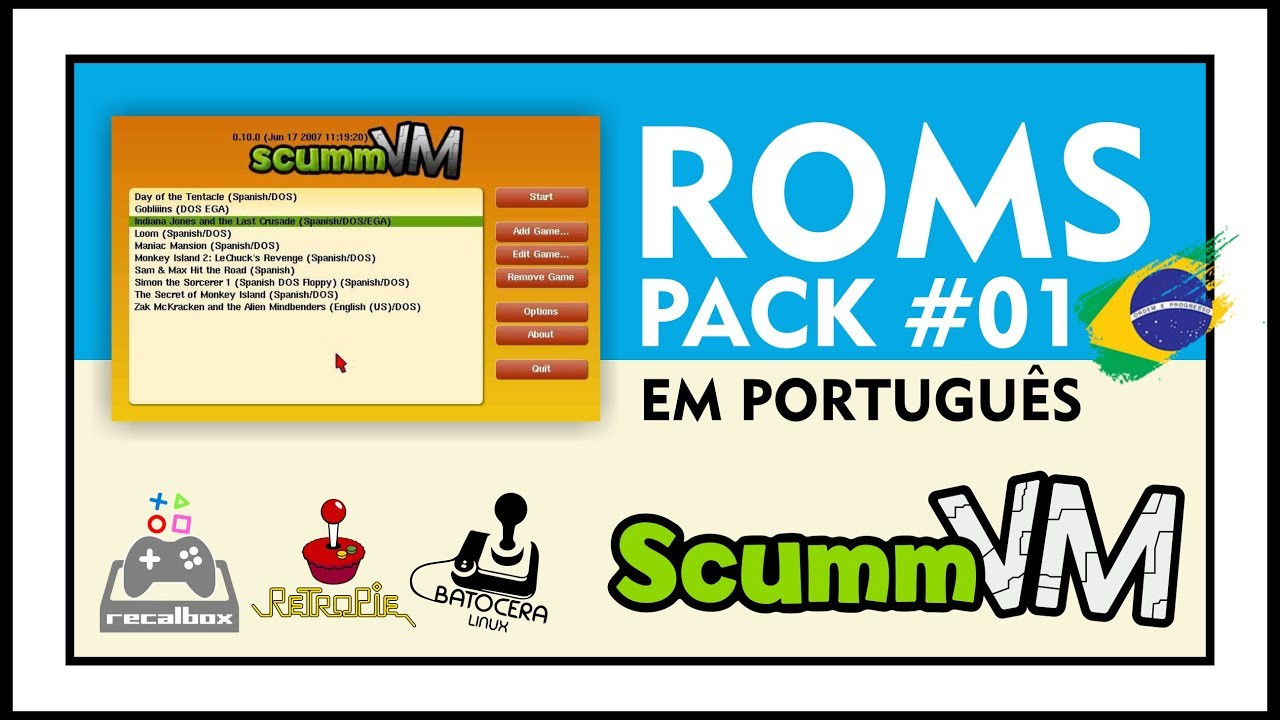 DOWNLOAD ROMS OF SCUMMVM - PACK #1