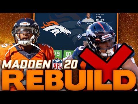 I Made a Mistake! Rebuilding the Denver Broncos! Drew Lock Wins OROY! Madden 20 Franchise Rebuild