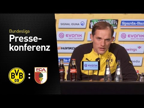 Thomas Tuchel nach dem Heimspiel gegen Augsburg   BVB - FC Augsburg 1:1