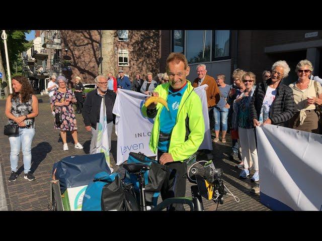 Rob uit Woerden start emotionele fietstocht in de strijd tegen kanker