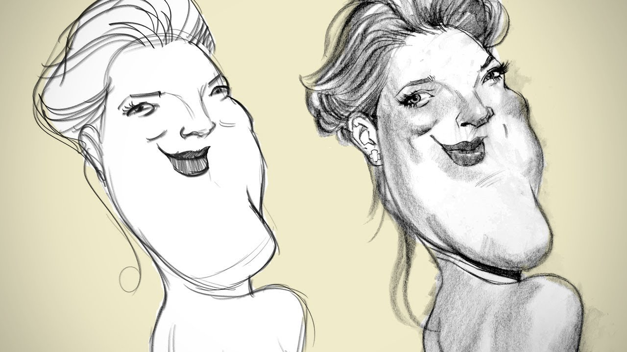 From Idea to Sketch - Rough Sketch Caricature
