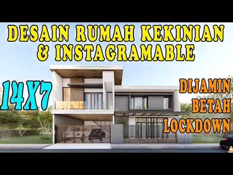 DESAIN RUMAH 14X7, DESAIN RUMAH KEKINIAN DAN INSTAGRAMABLE DESIGN BY ORLEANS STUDIO