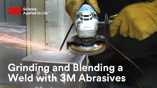 Grinding and Blending a Weld with 3M Abrasives