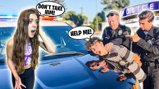 Getting arrested in front of my GIRLFRIEND to see her reaction *SHE CRIED* 🚔😭|Nick Bencivengo
