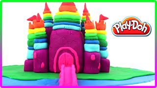 ♥ Play Doh Rainbow Castle of the Princess Plasticine Creation
