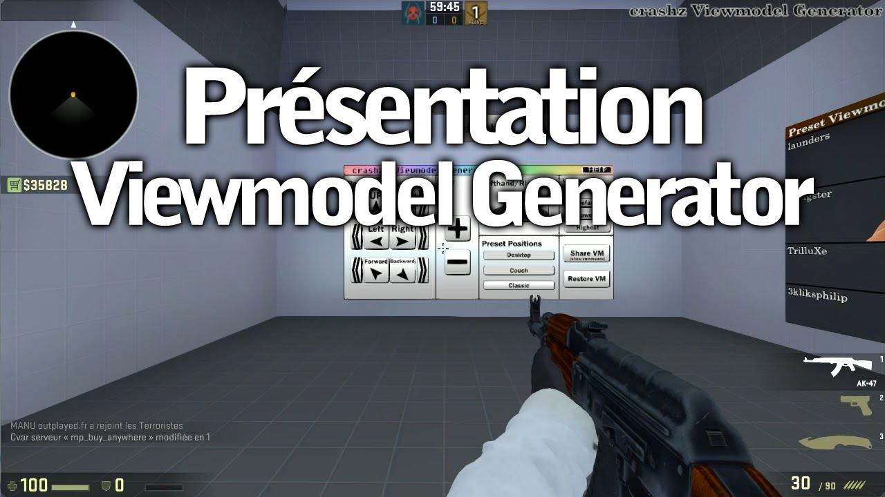 Viewmodel Generator par crashz' : Présentation de la map