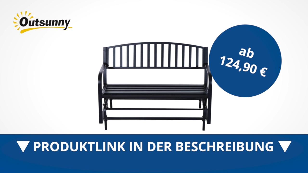 Outsunny Schaukelbank Gartenbank Gartenschaukel Sitzbank