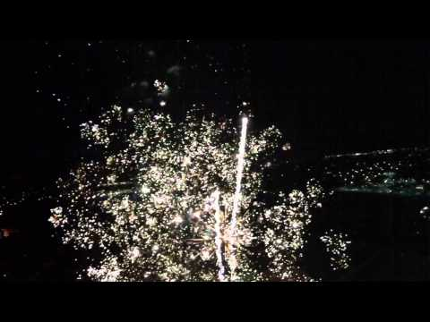 Clinton, Utah city fireworks from quadcopter