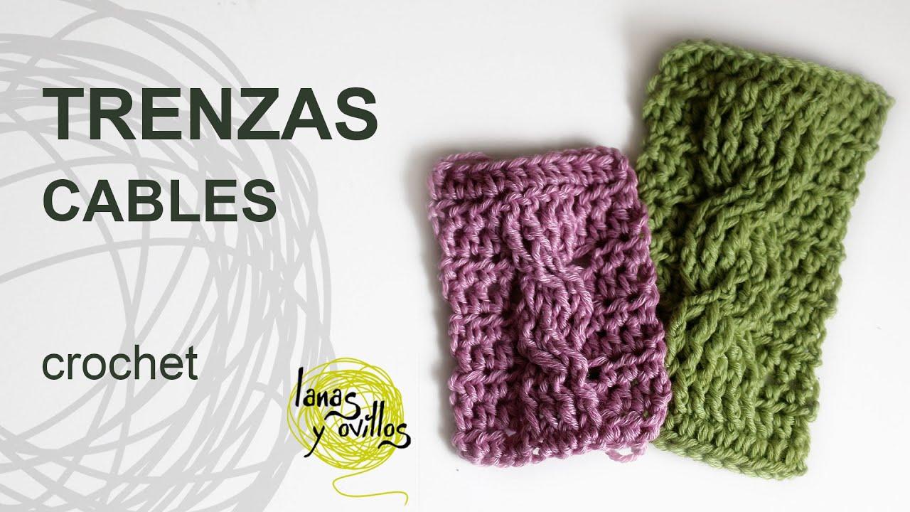 Tutorial trenzas u ochos crochet o ganchillo cables youtube - Como hacer ochos de punto ...
