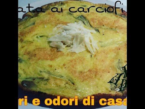 Ricetta veloce Frittata ai Carciofi,Quick recipe Frittata Artichokes,快速食谱菜肉馅煎蛋饼朝鲜蓟