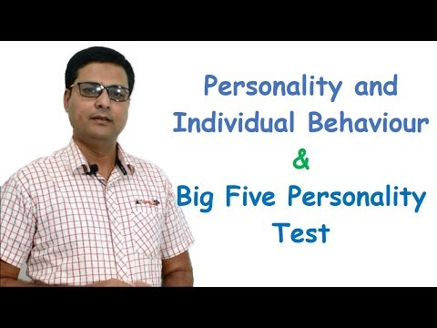 Personality And Individual Behavior And Big Five Personality Test