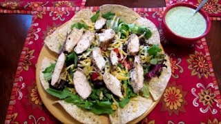 Southwestern Salad With Cilantro Lime Grilled Chicken And Dressing Recipe