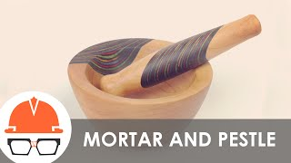 Turning A Wooden Mortar And Pestle On The Lathe