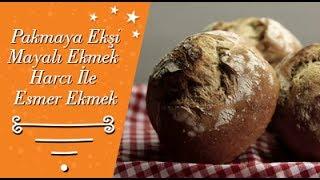 Pakmaya Ekşi Mayalı Ekmek Harcı İle Esmer Ekmek Tarifi
