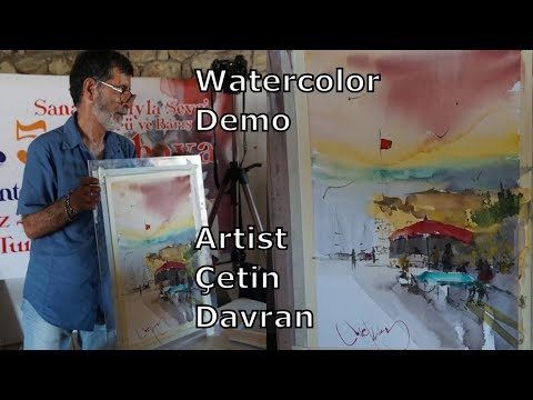 Watercolor Demonstration, Tutorial  Painting  technique aquarell how to paint landscape painting